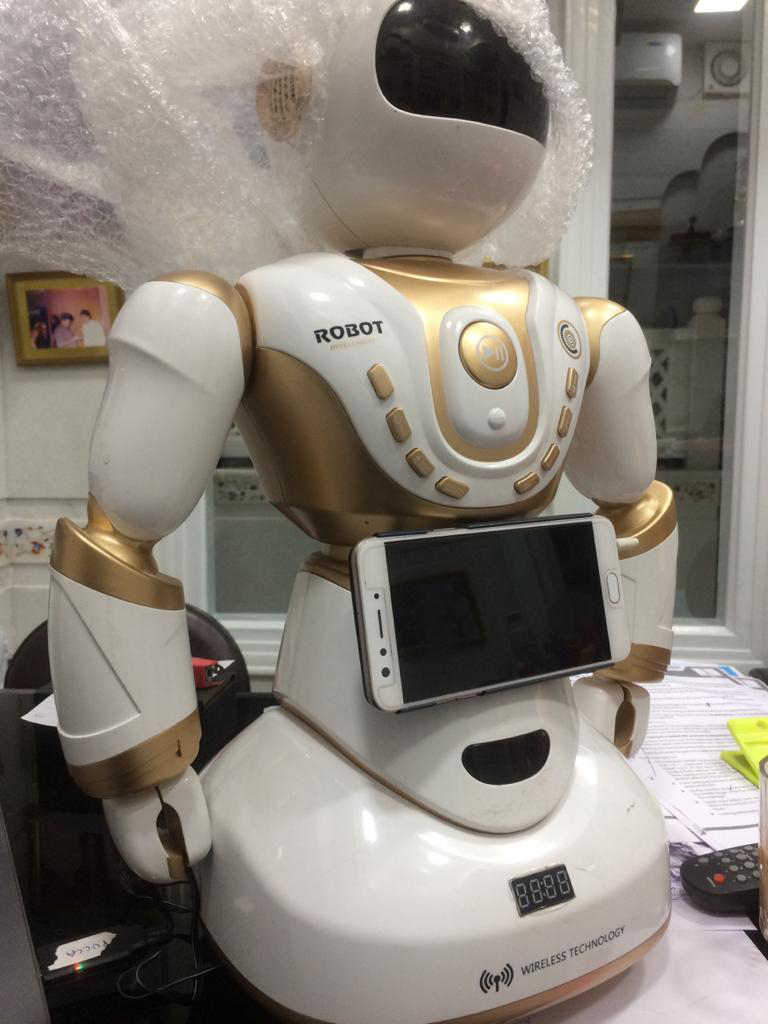 robot with wireless technology